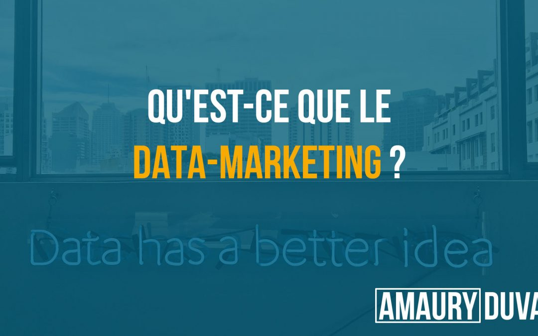 Qu'est ce que le data-marketing (vignette)